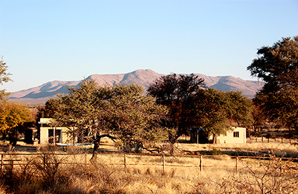 Erioloba Village at Ondekaremba: The bungalows appear like a village in the bush savannah.